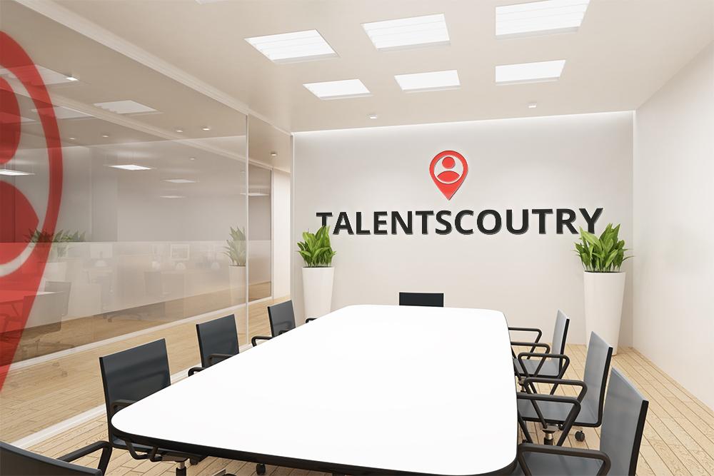 Besprechungszimmer Talentscoutry Logo Raum