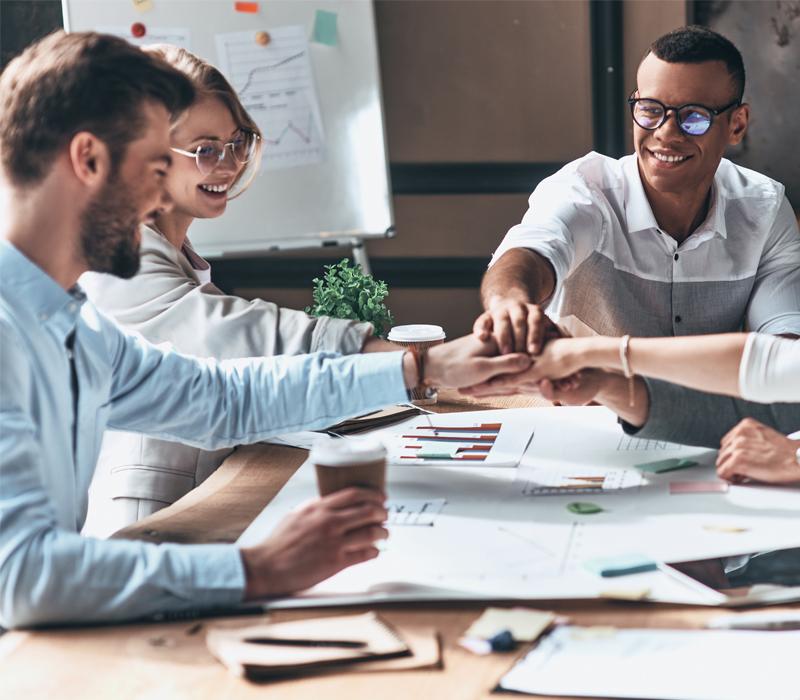 Mitarbeiter Besprechung Zusammenhalt
